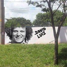 David Luiz... Funny. Nice Hair. Perfect!