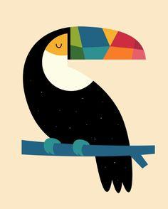 Rainbow Toucan Art Print