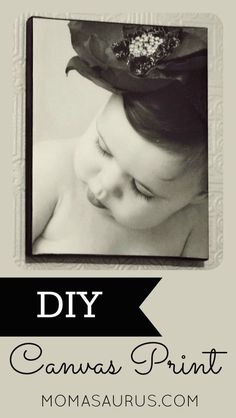 DIY Canvas Print Turn any photo or print into a canvas in just a few steps #diy #photo #photocanvas