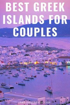 The best Greek Islands for couples travel. Complete list with the most romantic Greek Islands, perfect for young couples honeymoon or to ask someone in marriage. #greece #greekislands #europe #romance #honeymoon #greece travel #greeceislands #greecevacation