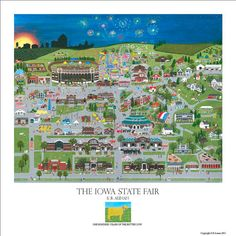 The Iowa State Fair, always a fun time, more food on a stick than is good to mention in mixed company, the ski lift across the park is fun.  Downside, usually during the HOTTEST weeks in Iowa. This year, it was a great fair and cool!