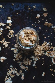 This crunch Coconut Almond Quinoa Granola is so delicious, easy to make and surprisingly low in sugar. Perfect for topping yogurt, serving with milk or just by the handful!