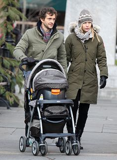 Claire Danes and husband Hugh Dancy walking with newborn son Cyrus Michael Christopher Dancy