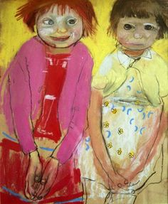 Sisters Pat and Anne were the artist's favourite models - by Joan Eardley