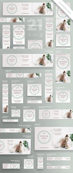 Fashion Shoes Banner Pack Template PSD, Vector EPS Source by ksioks Source by lolapearsonshoes Source by SabinaGrantFShop fashion banner Banner Template, Web Banner, Banners, Banner Instagram, Fashion Banner, Promotional Flyers, Display Ads, Ad Design, Graphic Design