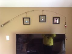 Fishing pole with picture frames