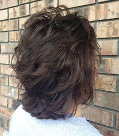 Resultado de imagem para Stacked Bob Hairstyles Back View Medium Shag Haircuts, Short Shag Hairstyles, Stacked Bob Hairstyles, Work Hairstyles, Wedding Hairstyles, Bob Haircuts, Layered Haircuts For Medium Hair, Spring Hairstyles, Homecoming Hairstyles