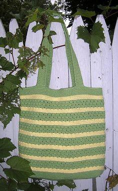 Crochet Stylin' Tote Bag free pattern.