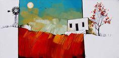 Artwork of Glendine exhibited at Robertson Art Gallery. Original art of more than 60 top South African Artists - Since Flower Artwork, Bird Artwork, Pole Art, South African Artists, Acrylic Artwork, Landscape Artwork, Naive Art, Art Ideas, Cape Dutch