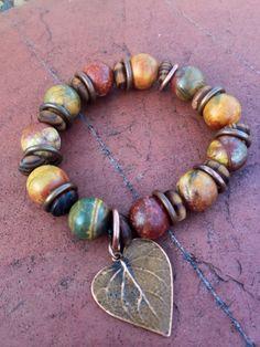 Richly colored jasper bracelet