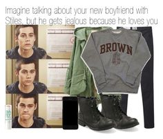"""""""Imagine talking about your new boyfriend with Stiles, but he gets jealous because he loves you"""" by xdr-bieberx ❤ liked on Polyvore featuring Acne Studios, Dolce&Gabbana and Aéropostale"""