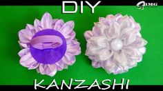 МК Канзаши. Резиночка для волос в технике Канзаши. Нежные фиолетовые тона. Рукоделие.DIY.Handmade