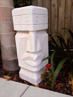 Bildergebnis für Ytong-Figuren-Vorlagen – Rebel Without Applause Sculpture Lessons, Art Sculpture, Stone Sculpture, Sculpture Ideas, Stone Carving, Wood Carving, Bars Tiki, Tiki Head, Tiki Statues