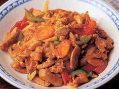 Hapanimelää porsasta Thai Recipes, Cooking Recipes, Finnish Recipes, Ratatouille, Pot Roast, Good Food, Curry, Pork, Food And Drink