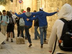 Skipping in the Old City of Jerusalem