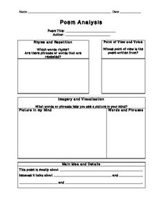 Poem Review Template
