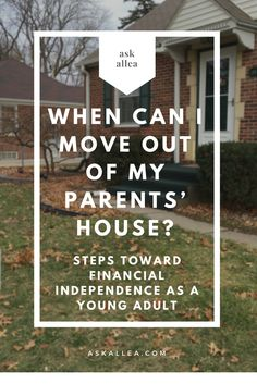Tips for #Moving out of Your Parent\'s Home for the First Time ...