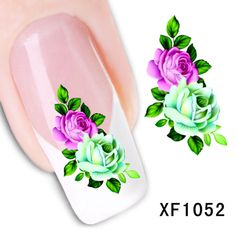 Diseño de la flor de Transferencia de Agua Nails Art Sticker calcomanías de señora women manicura herramientas Nail Wraps Tatuajes al por mayor