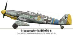 Messerschmitt Bf 109G6 9.JG54 (Y9+I) Ludwigslust 1944