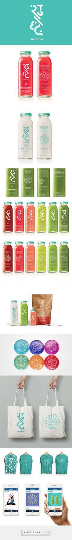 Shuddha Brand Fresh Cold Pressed Juice Packaging by Ishita Jain | Fivestar Branding – Design and Branding Agency & Inspiration Gallery