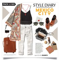 """""""Spring Jacket for Mexico Trip"""" by akchesunel ❤ liked on Polyvore featuring Nancy Gonzalez, Abercrombie & Fitch, Topshop, Love Rocks, DSPTCH, H&M, Dogeared, STOW, FOSSIL and Chloé"""