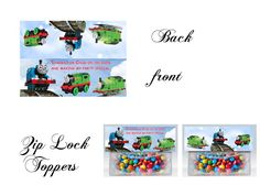 Thomas the Train Bag toppers, Gift tags
