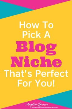 How To Pick A Blog Niche | Your blog niche can mean the difference between a profitable blog that makes money or one that flops. Let's talk about tips on how to pick a blog niche that's perfect for you! You'll discover how to find a blog niche that's in high demand, gets good traffic, and allows you to make money from home. PLUS grab my Online Business Blueprint printable! #blogging #startablog #howtoblog #mompreneur #onlinebusiness #wahm #p31 #p31businesswoman #proverbs31businesswoman