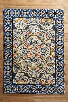 Anthropologie Tufted Regalia Rug,  boho, bohemian, gypsy, eclectic, bedroom, furniture, home decor,  unique