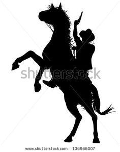stock-vector-editable-vector-silhouette-of-a-cowboy-shooting-a-pistol-on-a-rearing-horse-136966007.jpg (371×470)