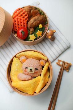 Snack ideas kawaii Bento rice food recipe