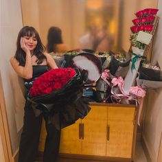 He knows how much I love receiving flowers but I didn't expect to be showered with so many bouquets waiting for me at my hotel room. Kathryn Bernardo Hairstyle, Giving Flowers, Filipina Actress, Daniel Padilla, Ford, Jadine, Bridesmaid Dresses, Wedding Dresses, Over Dose