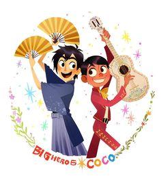 Read sabor a mi ~~ from the story hiro x miguel ( inagenes de mi galeria ) by One-user (lollipop) with reads. Arte Disney, Disney Fan Art, Disney Love, Disney Magic, Pixar Movies, Disney Films, Disney And Dreamworks, Disney Pixar, Humor Disney