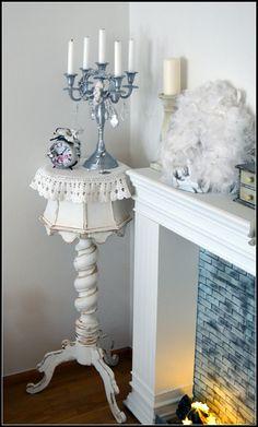 pedestal - my shabby white home - shabby chic