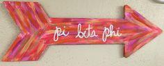 Pi Beta Phi arrow craft #piphi #pibetaphi