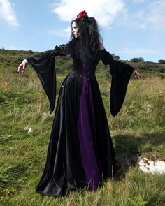 Melian Gown by Moonmaiden Gothic Clothing UK - Medieval Renaissance Dress
