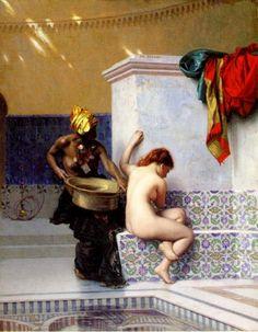 Turkish Bath or Moorish Bath (Two Women) :: Jean-Leon Gerome