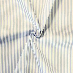 100% Baumwolle Streifen Hellblau-Weiss 13885