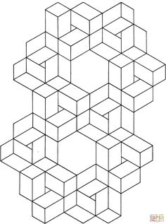optical illusion coloring page vasarely op art pinterest