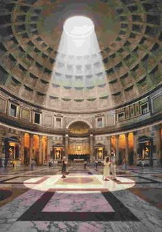 Pantheon, Rome. Beautiful place. Originally a temple to seven planetary deities, later converted to a christian church.