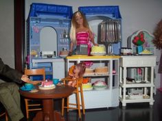 barbie diorama for sale | Bakery Shop Cake Room Barbie Pie Set Lot Diorama 1 6 | eBay