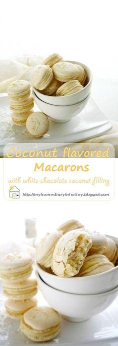 This coconut flavor macarons is happen part of my flavor journey on macarons making #coconutmacarons #macaronstipsandhow #macaronsrecipe #cookies #sandwichcookies #coconut #whitechocolatefilling #citrashomediary