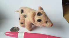 by Sarah Robertshaw on Etsy Cute Pink, Super Cute, Yellow, Etsy, Animals, Animales, Animaux, Animal, Gold
