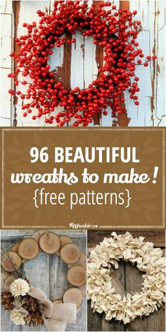 Learn how to make wreaths with these 96 pictured tutorials. Make wreaths for any occasion, season, and holiday. You'll find a door wreath to make using almost… Diy Wedding Reception, Diy Wedding Backdrop, How To Make Paper Flowers, How To Make Wreaths, Xmas Wreaths, Door Wreaths, Winter Wreaths, Mason Jar Crafts, Mason Jar Diy