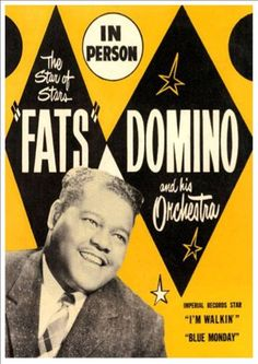 Vintage Fats Domino Concert Rock And Roll Music Advertising Advertisement Poster Re-Print Wall Decor Vintage Concert Posters, Vintage Advertising Posters, Vintage Posters, Rock And Roll Dance, 1950s Rock And Roll, Rock Posters, Band Posters, Music Posters, Jazz