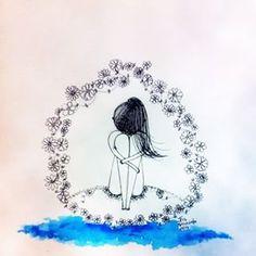 Quando o corpo pesa, a alma pede pausa... #illustration #drawing #beautiful #inspiration #creative #art #artdaily  #sketch #artwork #love #reflexao  #sketchingtime #emotion #vivaaarte #ilustracao #emocao #sensibilidade #irisscuccatoilustracao