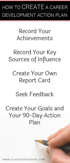 Perfect How To Create A Career Development Action Plan