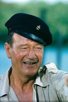 "John Wayne (May 26, 1907 - June 11, 1979) as Michael Patrick 'Guns' Donovan in ""Donovans Reef"", 1963. age 56 #actor"