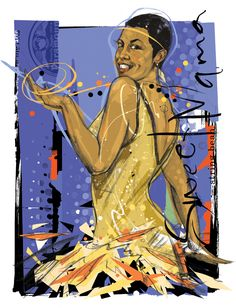 'Ethel Waters' by Martin French - Illustration from United States Ethel Waters, French Illustration, Lindy Hop, Portfolio Images, Great Women, Historian, Black History, Disney Characters, Fictional Characters