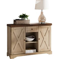 Features:  -Antique white and walnut finish.  -Material: Solid wood and veneer.  -Shape: Rectangle.  -Storage under table top.  -Legs included.  -Number of legs: 4.  Base Finish: -Antique white.  Top