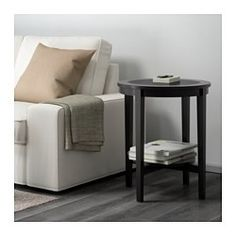 MALMSTA Mesa auxiliar, negro-marrón - IKEA